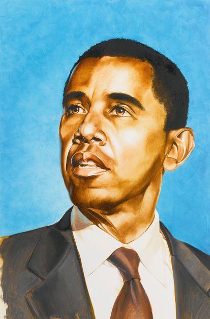 Kehinde Wiley-Obama (Study)-2008