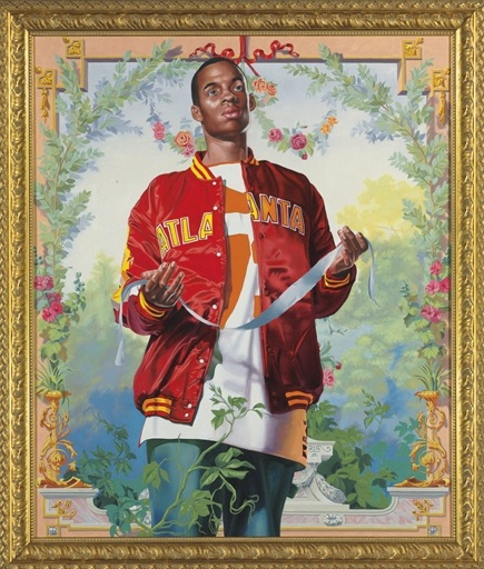 Kehinde Wiley-Passing/Posing from Coronation of the Virgin-2005