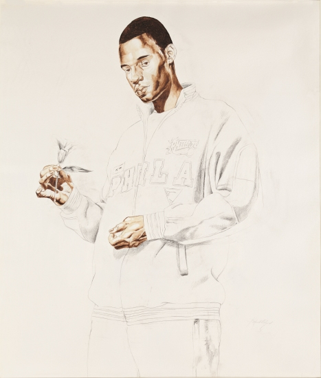 Kehinde Wiley-Passing/Posing: Lady Innes Study-2004