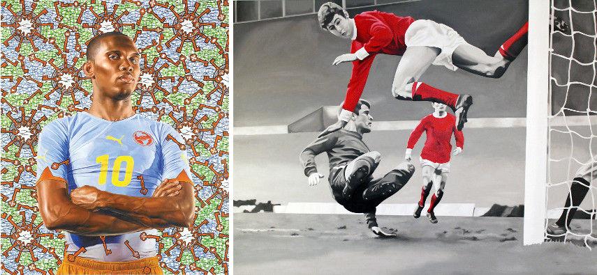 Kehinde Wiley - Samuel Eto_o, 2010 - Chris Beas - The Kidd_s Alright, 2008
