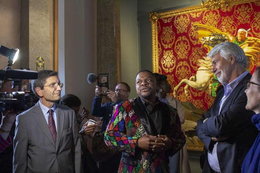 Kehinde Wiley at the opening ceremony
