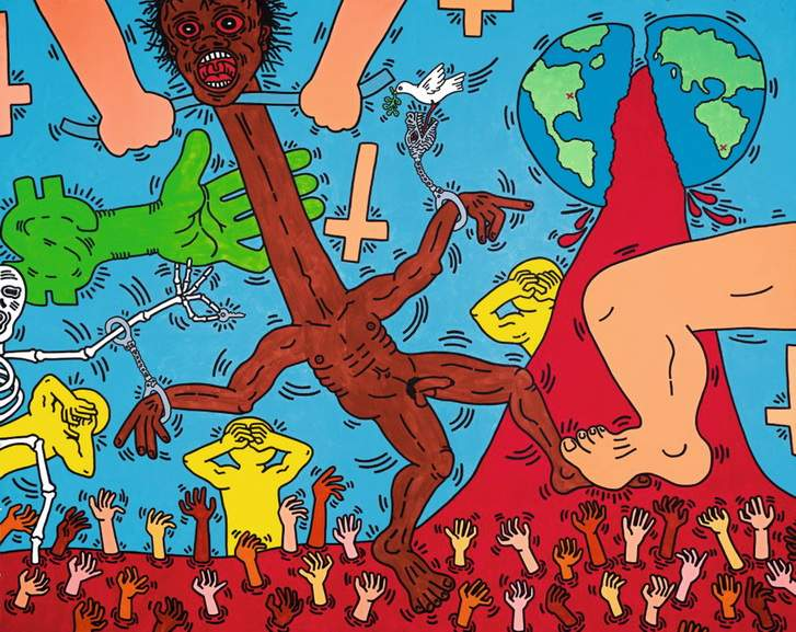 Keith Haring – Michael Stewart USA for Africa