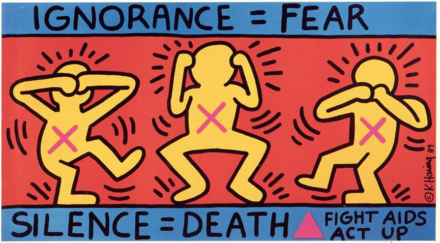 AIDS art campaign
