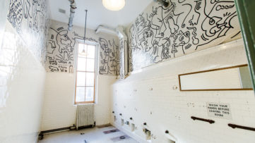 Keith Haring Bathroom Mural at The LBGT Community Center. Liz Ligon