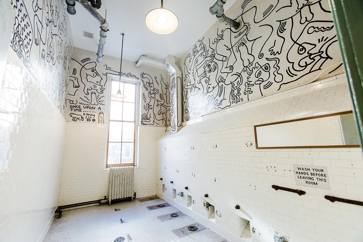 Keith Haring Bathroom Mural at The LBGT Community Center. Liz Ligon