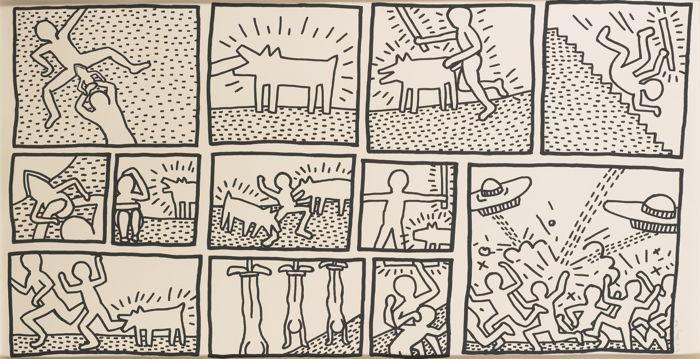 Keith Haring-Blueprint Drawing #1 (L. Pg. 175)-1990