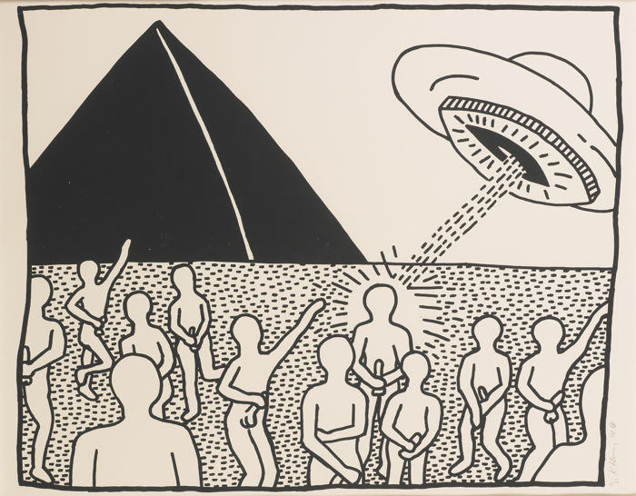 Keith Haring-Blueprint Drawing #8 (L. Pg. 179)-1990