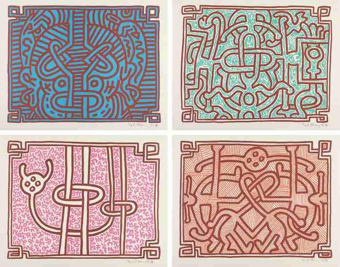 Keith Haring-Chocolate Buddah: four prints-1989
