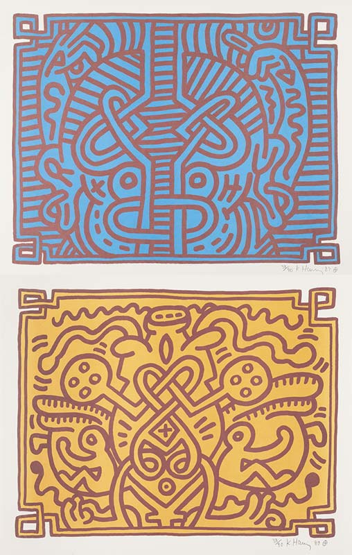 Keith Haring-Chocolate Buddha: Plates I & IV-1989