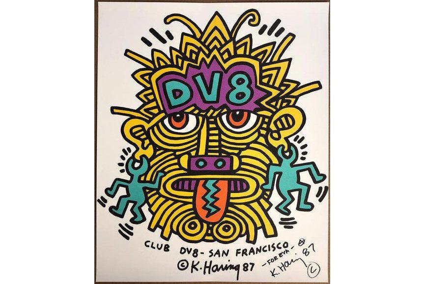 Keith Haring - Club DV8 - San Francisco Announcement