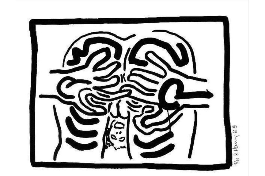 Keith Haring - Complete Bad Boys suite, 1984