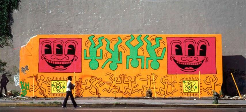 Keith Haring - Houston Bowery Street - New York, 1982 - original
