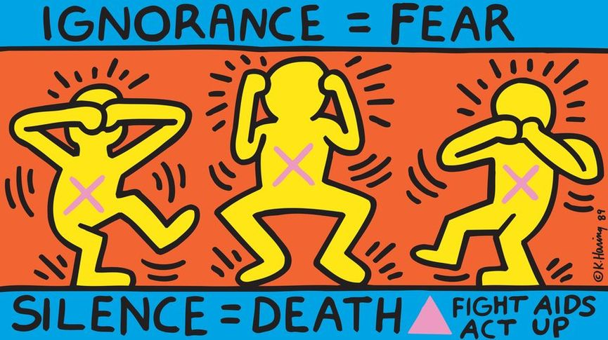 Keith Haring - Ignorance = Fear 1989