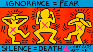 Keith Haring - Ignorance = Fear, 1989