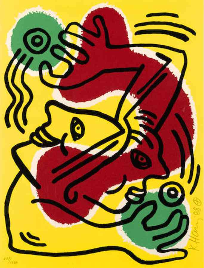 Keith Haring-International Volunteer Day-1988