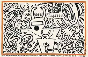 Keith Haring-Keith Haring at Robert Fraser Gallery 19th Oct-Nov 12 1981-1983