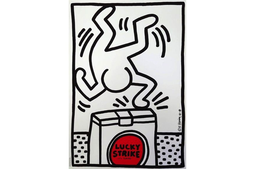 Keith Haring - Lucky Strike, 1987