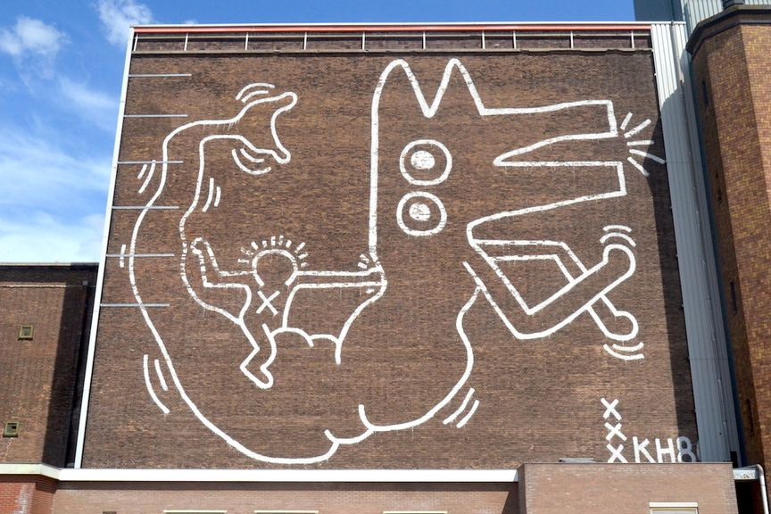 Keith Haring Mural at Centrale Markthallen in Amsterdam