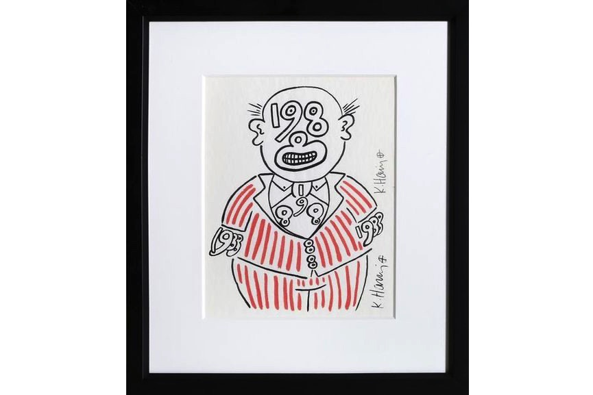 Keith Haring - New Year's Invitation '88 (Suit), 1988