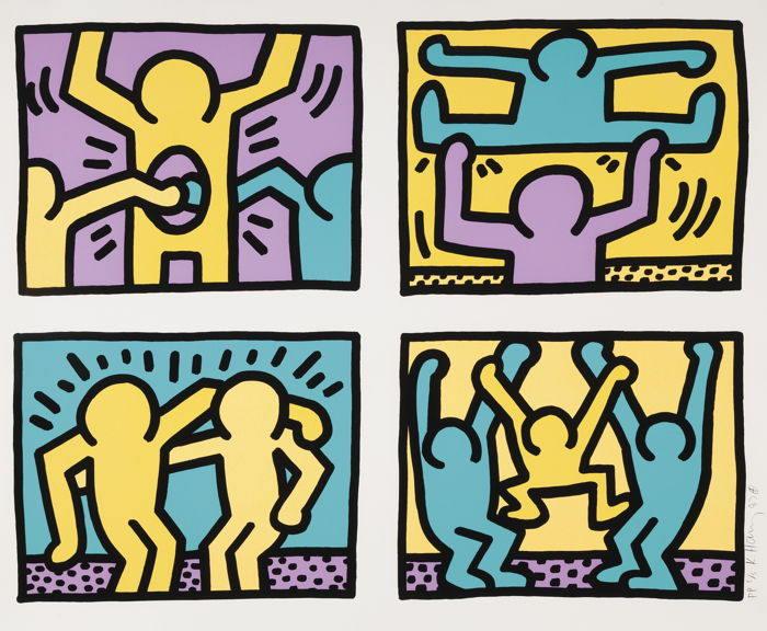 Keith Haring-Pop Shop Quad I-1987
