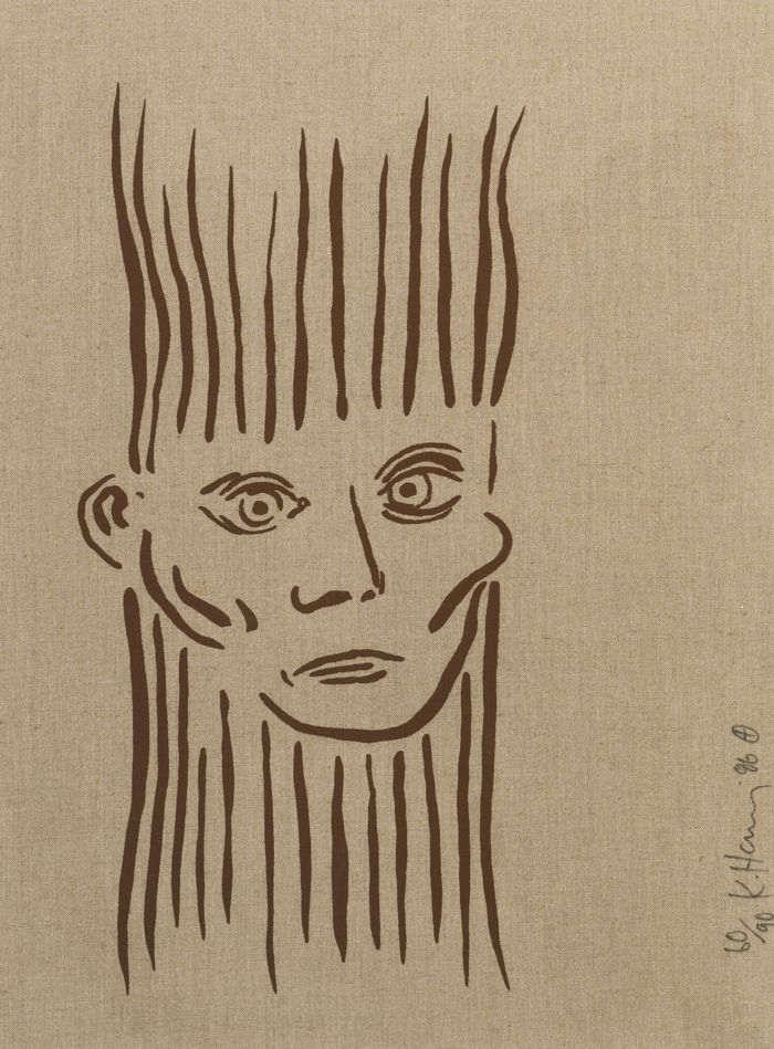Keith Haring-Portrait Of Joseph Beuys-1986