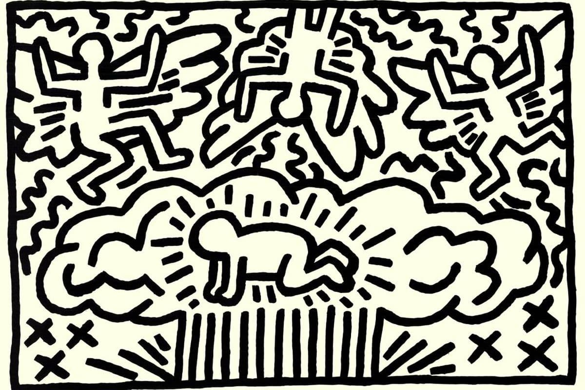 Keith Haring - Poster for Nuclear Disarmament (detail), 1982