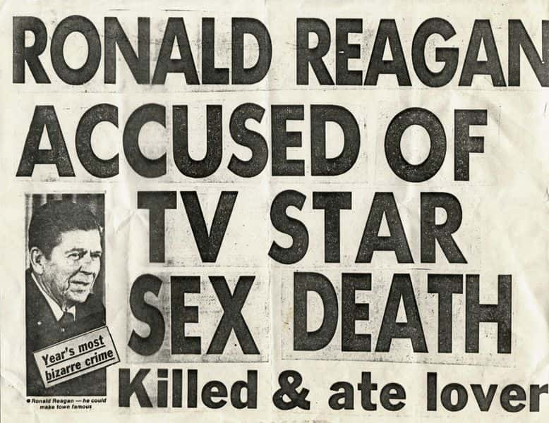 Keith Haring - Ronald Reagan Accused of TV Star Sex Death, 1980