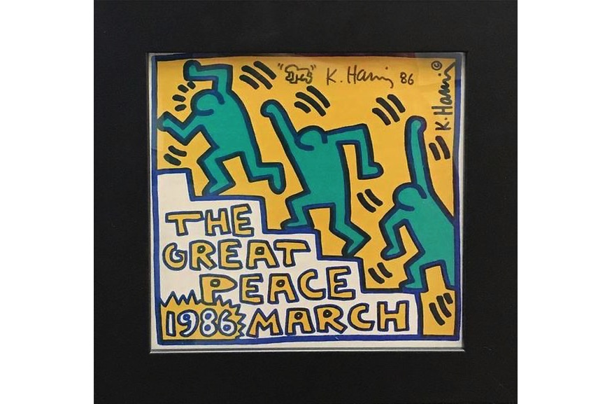 Keith Haring - The Great Peace March, 1986