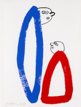 Keith Haring-The Story of Red and Blue XIV-1990
