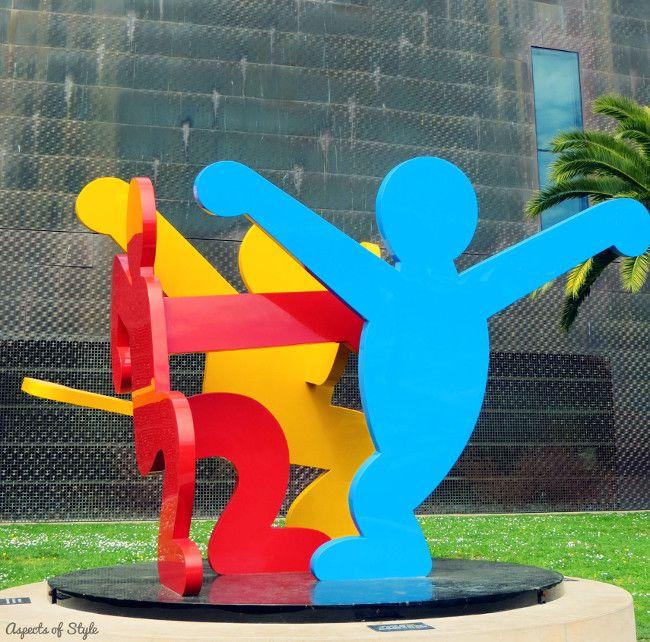 Keith Haring - Three Dancing Figures sculpture - San Francisco, 1989