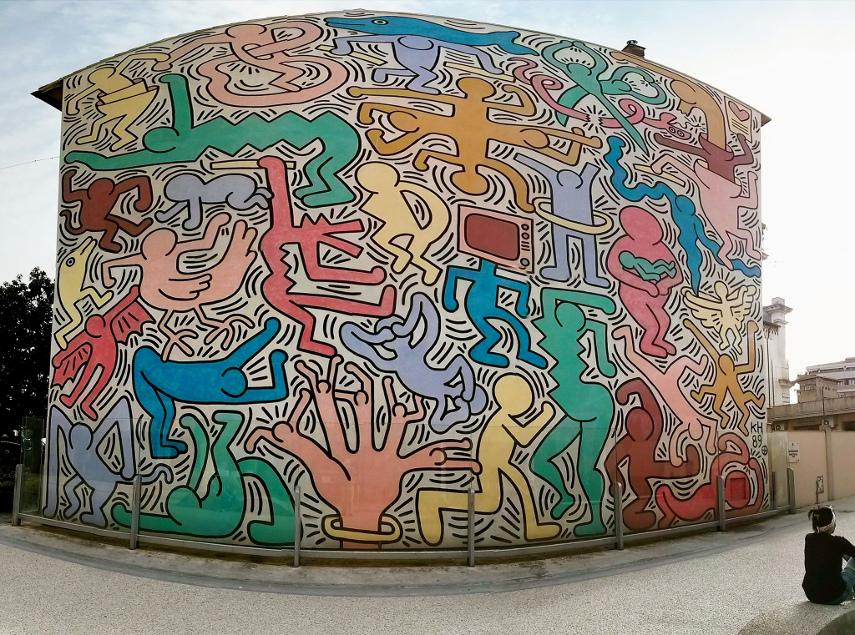Keith Haring - Tuttomondo - Pisa, Italy, 1989 - Photo Credits Tom M