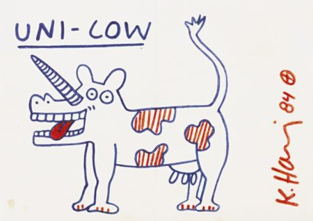 Keith Haring-Uni-Cow-1984