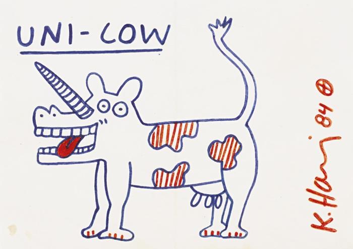 Keith Haring-Uni-Cow-1984