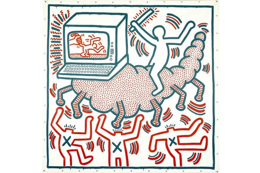 Keith Haring - Untitled, 1983; on view in 2018