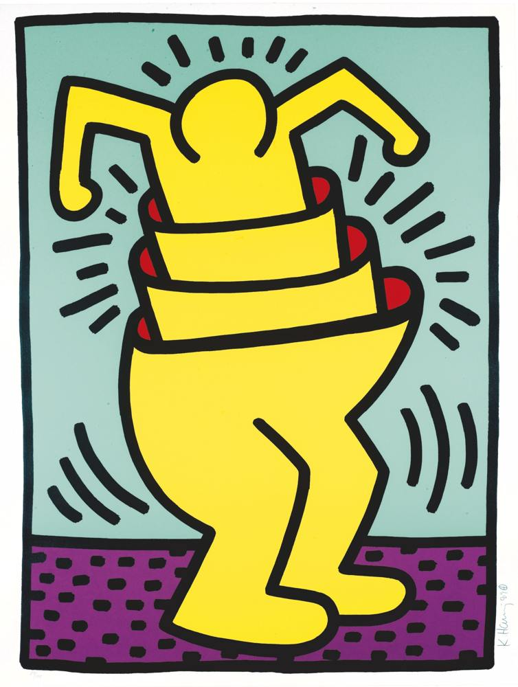 Keith Haring-Untitled (L. P. 116-117)-1989