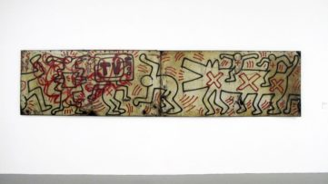Keith Haring - Untitled (FDR NY) #3 & #4, 1984