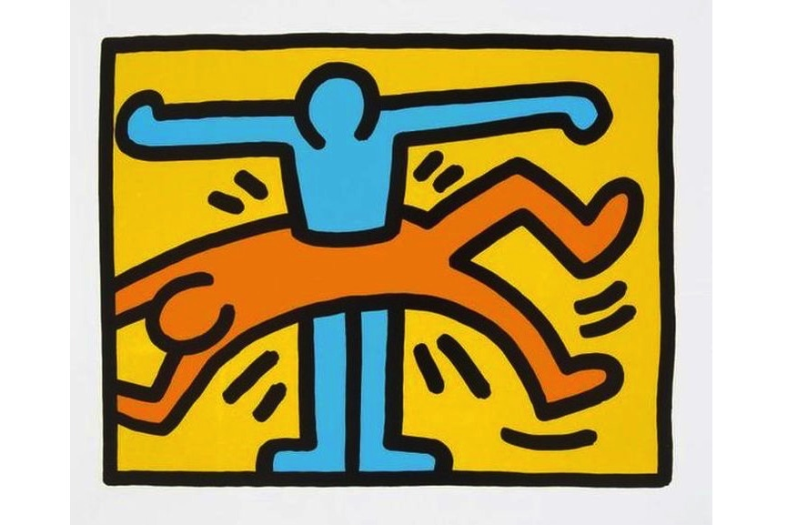 Keith Haring - Untitled (from Pop Shop VI), 1989