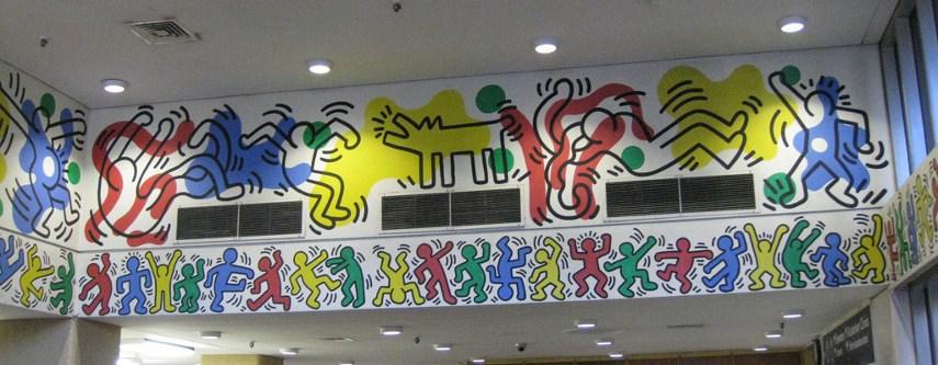 Keith Haring - Woodhull Hospital (detail) - New York, 1986