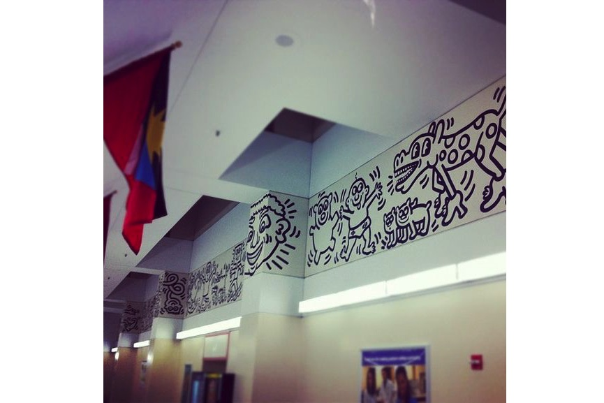 Keith Haring mural at Woodhull Hospital