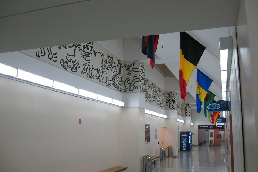 Keith Haring mural at Woodhull Hospital, New York, 1986