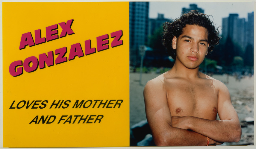Ken Lum - Alex Gonzalez Loves his Mother and Father, 1989