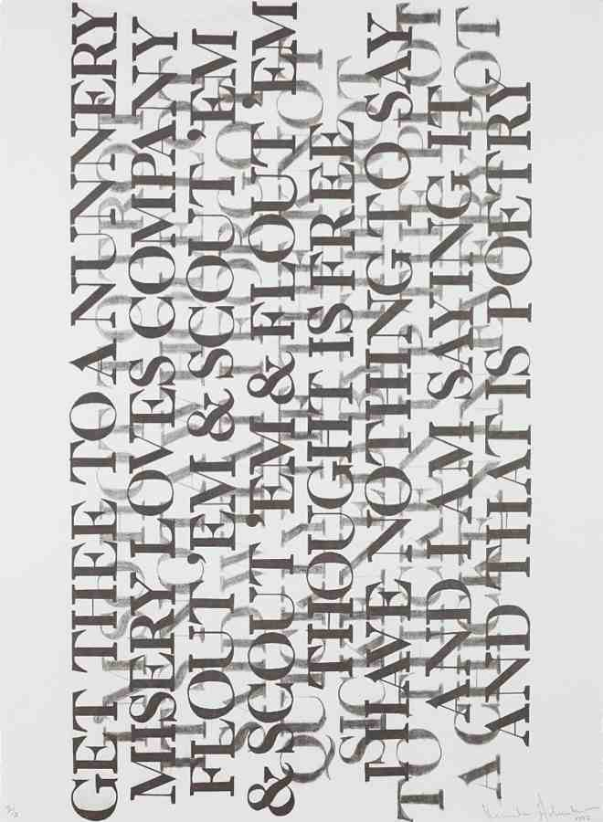 Kenneth Goldsmith-Untitled, from Selections from 73 Poems-1992
