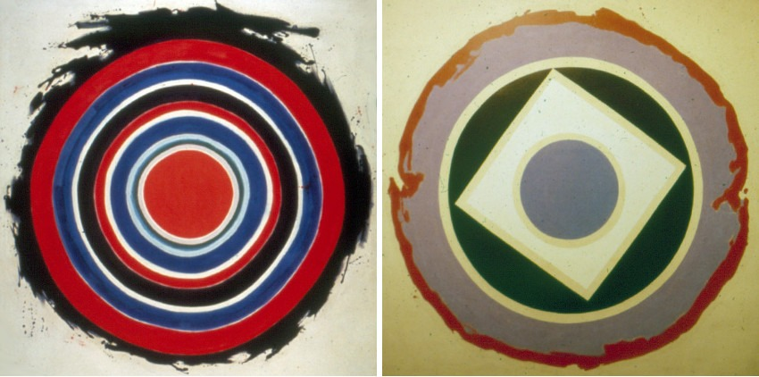 Beginning, 1958 (Left) / Split, 1959 (Right) stripes robert education