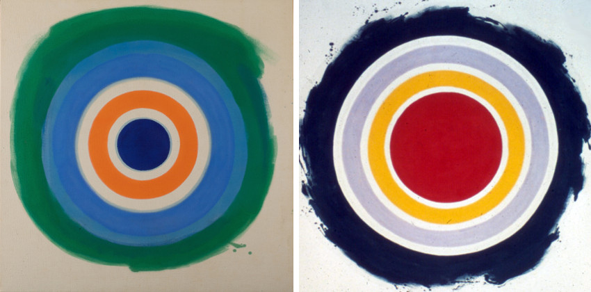 Blue Painted Blue, 1959 (Left) / And Half, 1959 (Right) robert contact education