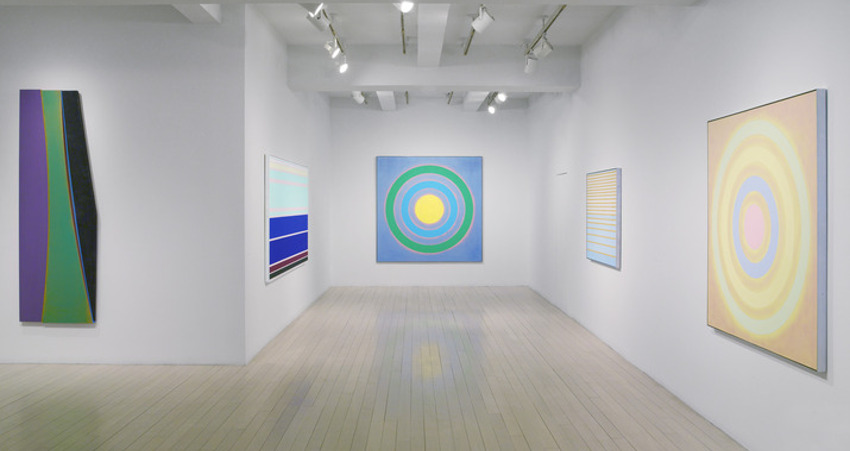 Noland's Paintings 1975 – 2003, 2014, show at Pace Gallery, installation view, photo credits - Pace Gallery home robert