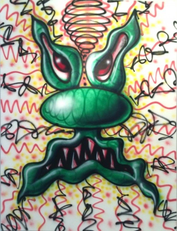 Kenny Scharf, SCARY GUY, 2004