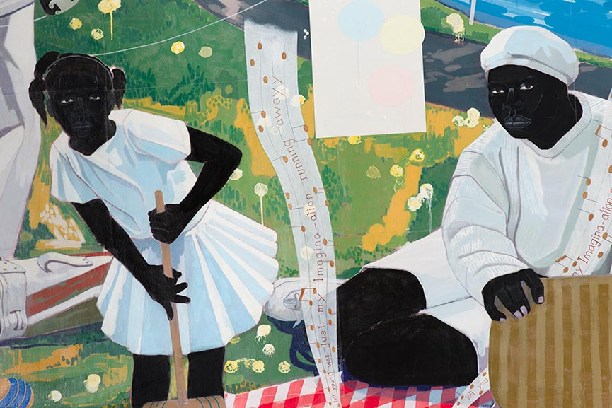 the visual elements in policeman a polymer painting by kerry james marshall If anything could be said to be an american component to the painting, there's a certain element of and so when the police officer kerry james marshall.