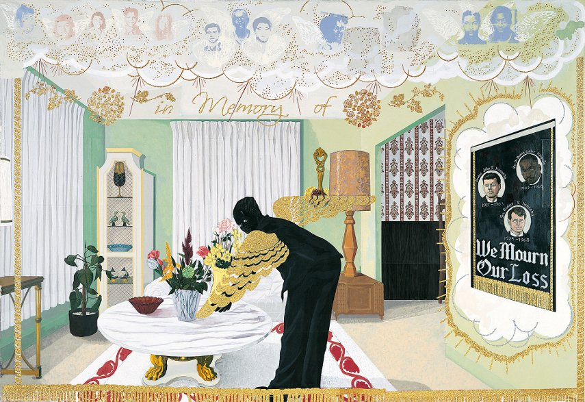 Kerry James Marshall - Souvenir I, 1997