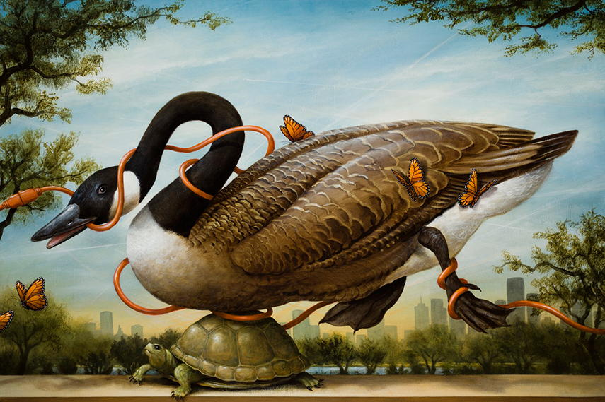 Kevin Sloan new contact gallery garden world acrylic landscape paint