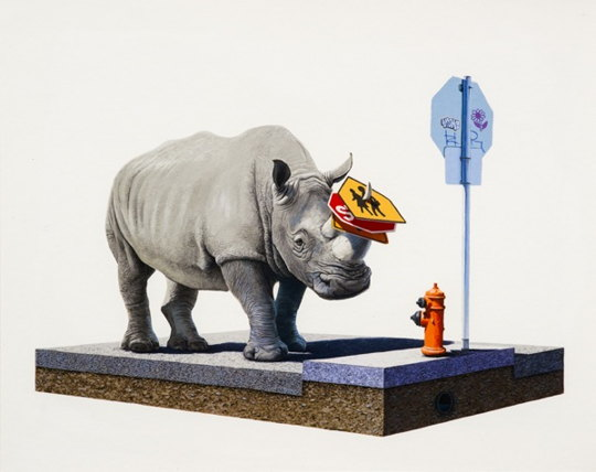 Josh Keyes-The Collector-2012